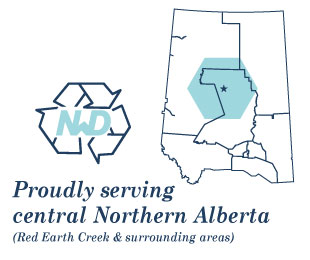 Proudly serving central Northern Alberta (Red Earth Creek & surrounding areas) | Logo and map