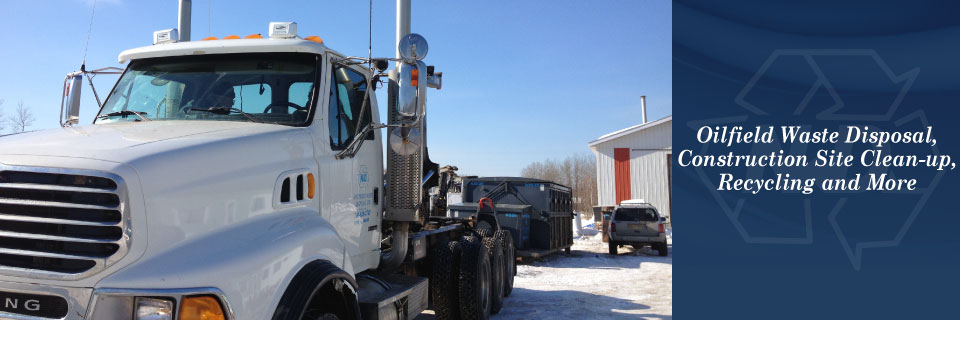Oilfield Waste Disposal, Construction Site Clean-up, Recycling and More | Truck